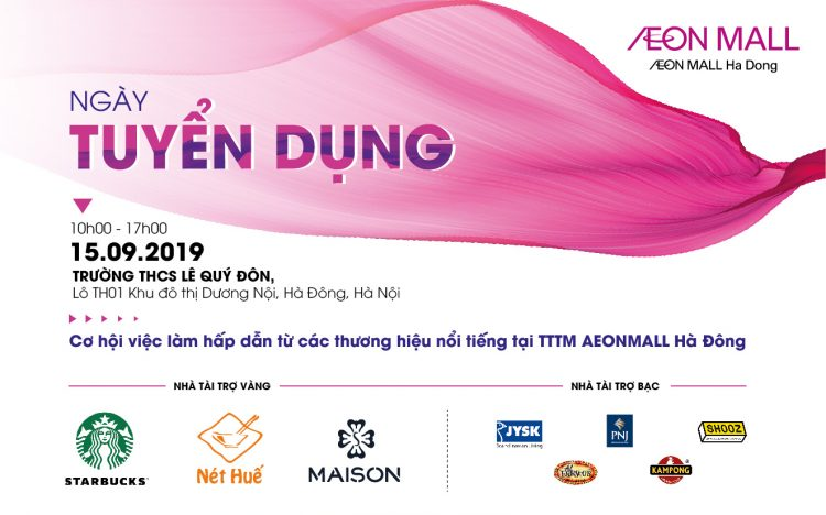 Great career opportunity at Recruitment Day with AEONMALL Ha Dong