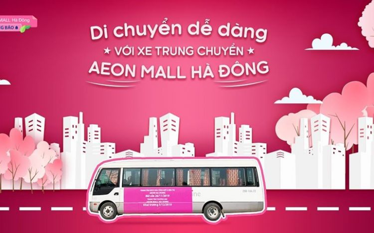 SHUTTER BUS IS READY AT AEON MALL HA DONG!