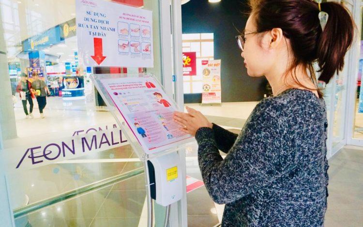 TTTM AEON MALL tại Việt Nam triển khai biện pháp ngăn ngừa virus Corona