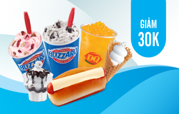 Discount 30,000VND from Dairy Queen